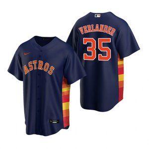 Houston Astros Justin Verlander Jersey Navy